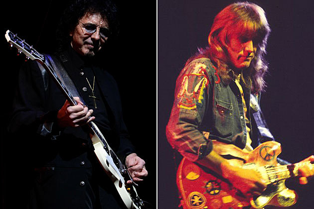 Tony Iommi and Alvin Lee