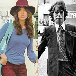 Carly Simon Mick Jagger
