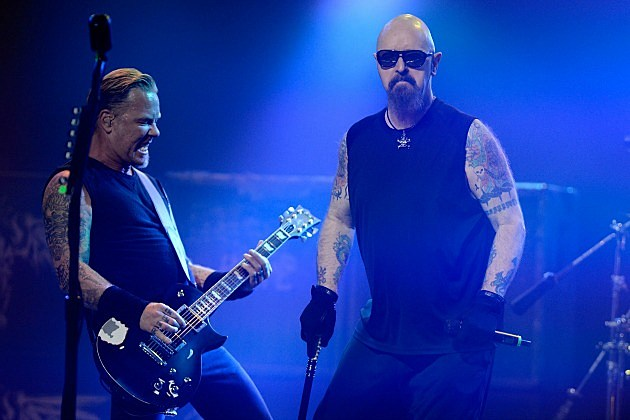 James Hetfield and Rob Halford