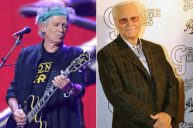 Keith Richards and George Jones