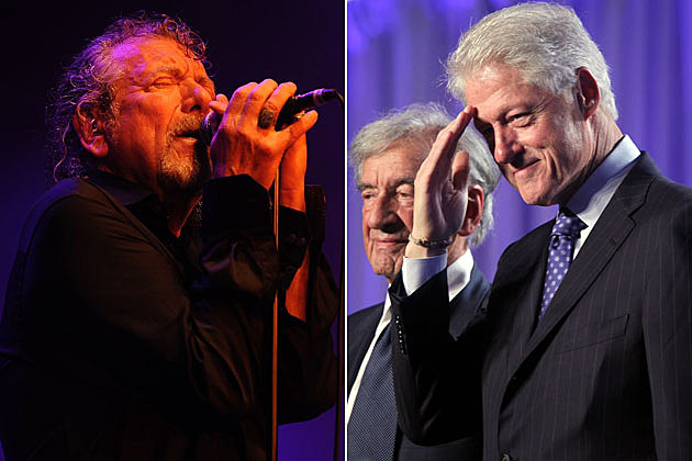 Robert Plant Bill Clinton