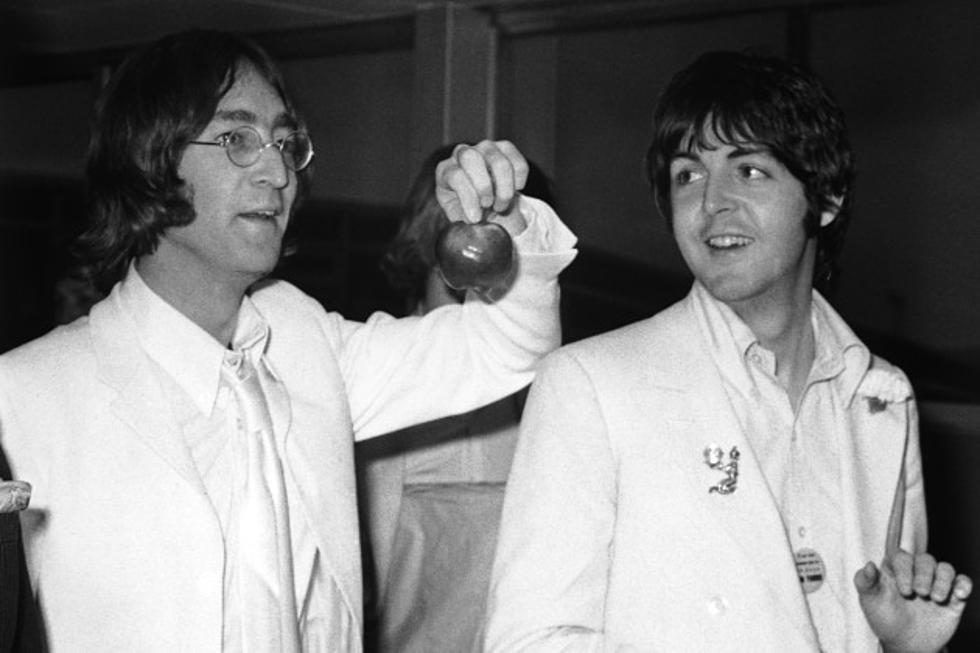 When John Lennon And Paul McCartney Appeared On The Tonight Show To Promote Apple