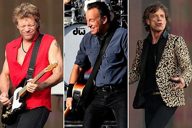 Bon Jovi Bruce Springsteen Mick Jagger