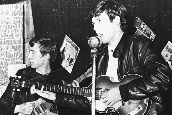 Image result for first photo of john lennon and paul mccartney