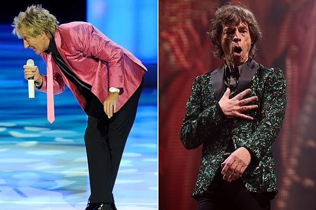 Rod Stewart Mick Jagger