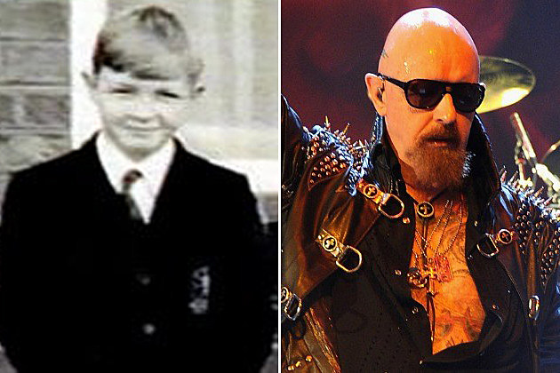 it�s rob halford�s yearbook photo