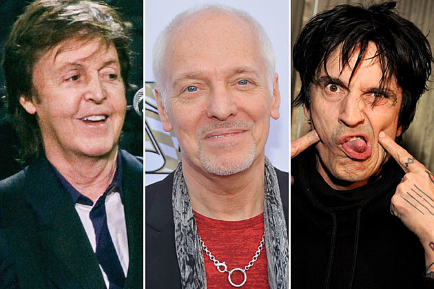 Paul McCartney, Peter Frampton, and Tommy Lee