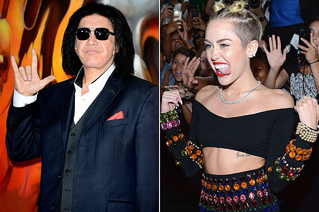 Gene Simmons and Miley Cyrus