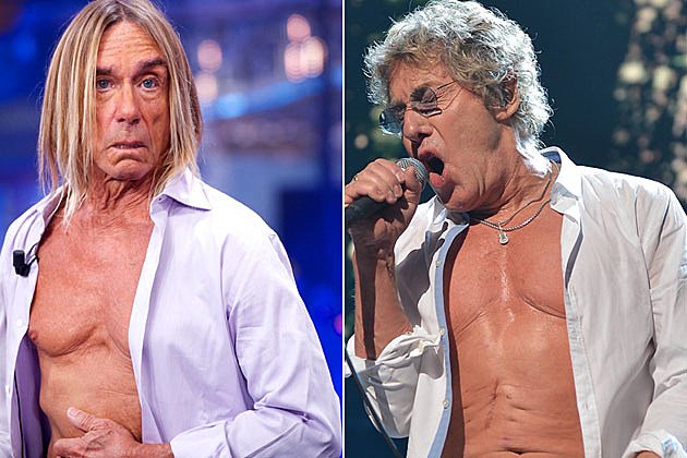 Iggy Pop and Roger Daltrey