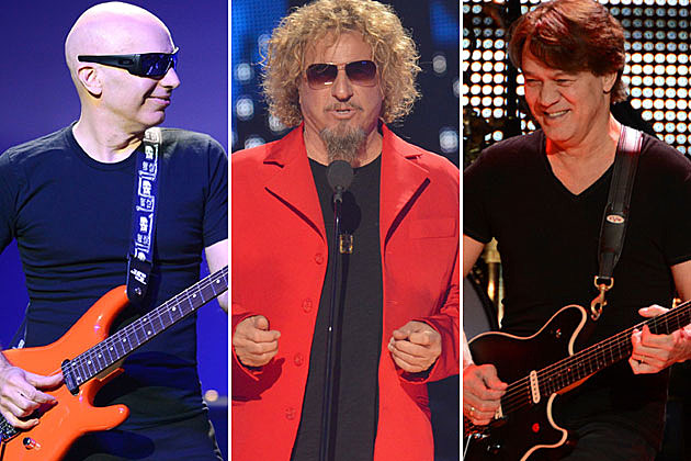 Joe Satriani, Sammy Hagar, and Eddie Van Halen
