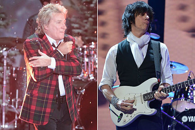 Rod Stewart and Jeff Beck