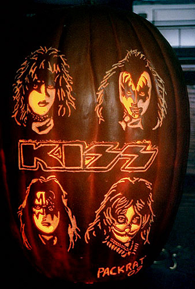 Kiss pumpkin photo gallery happy halloween