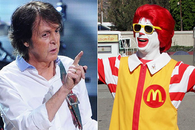 Paul McCartney and Ronald McDonald