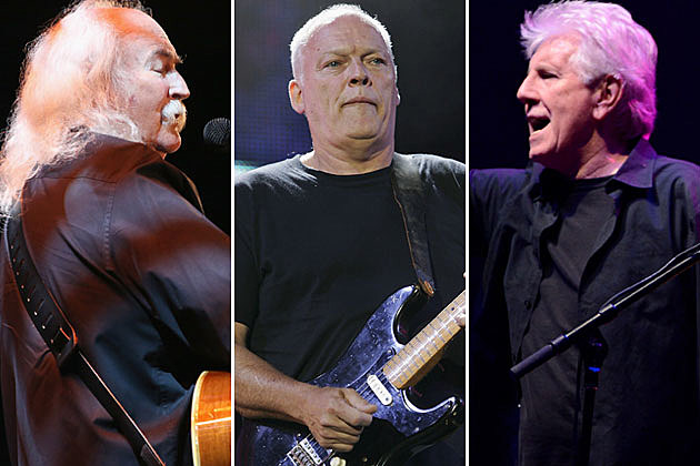 David Crosby, David Gilmour, and Graham Nash