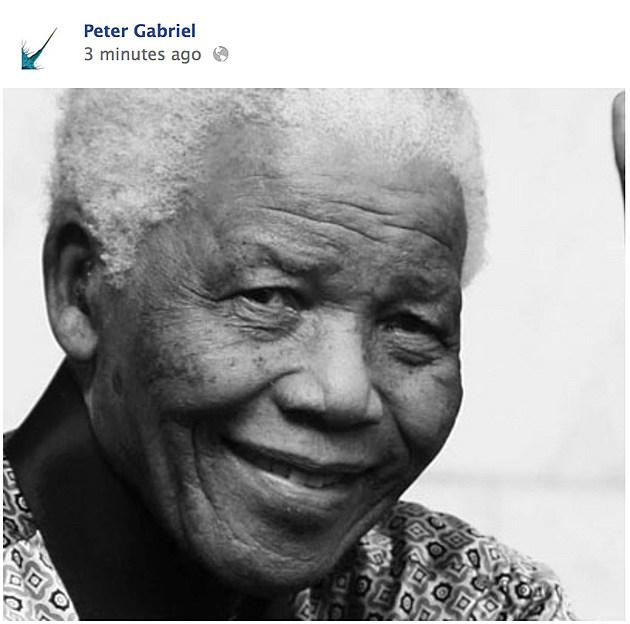Peter Gabriel Nelson Mandela