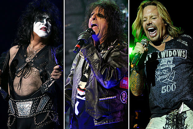Paul Stanley, Alice Cooper, and Vince Neil
