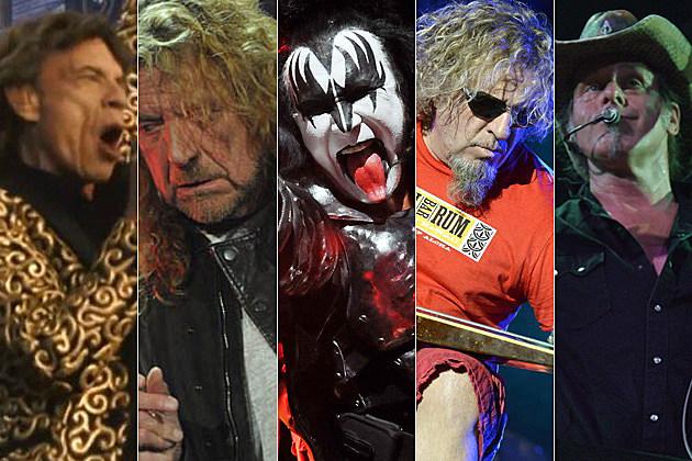 Mick Jagger, Robert Plant, Gene Simmons, Sammy Hagar, Ted Nugent