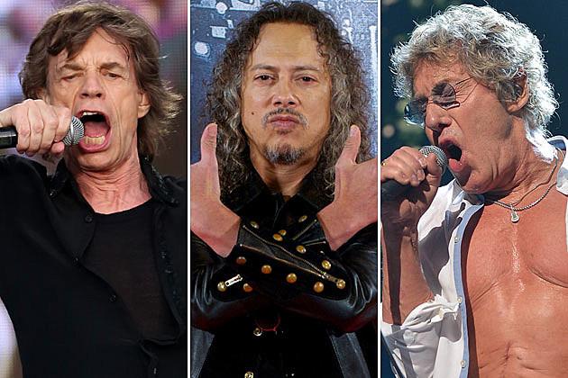 Mick Jagger, Kirk Hammett, and Roger Daltrey