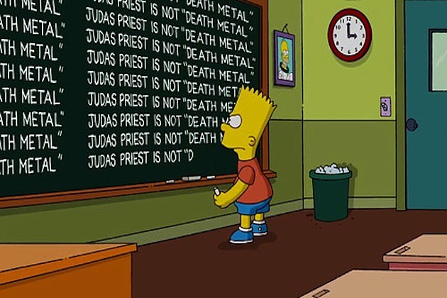 Judas Priest on the Simpsons