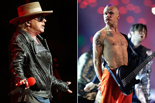 Axl Rose and Flea
