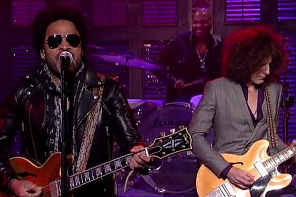 Lenny Kravitz Covers the Beatles on 'Letterman'