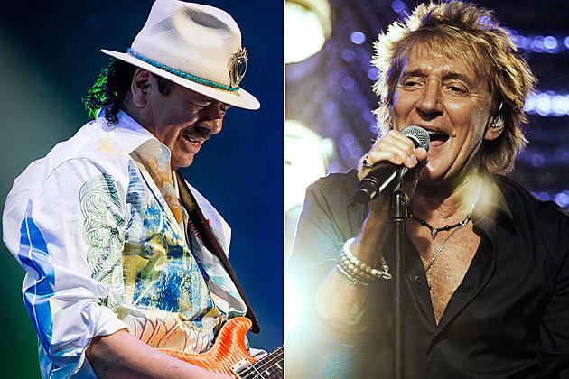 Santana and Rod Stewart