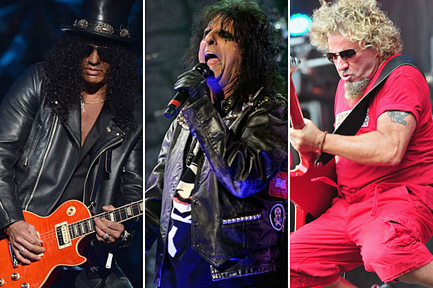 Slash, Alice Cooper, and Sammy Hagar