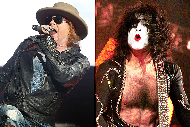 Axl Rose Paul Stanley