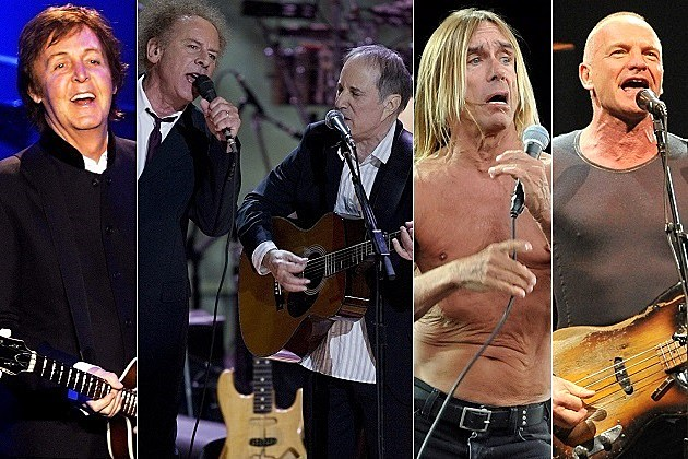 Paul McCartney Simon & Garfunkel Iggy Pop Sting