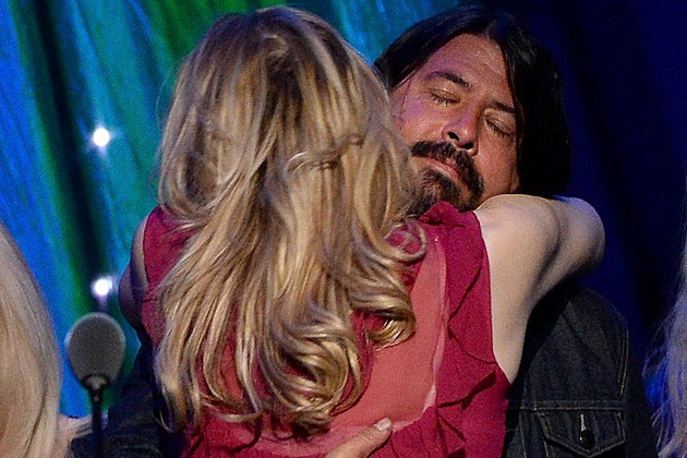 Courtney Love and dave grohl