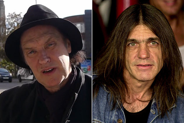 Dave Davies and Malcolm Young