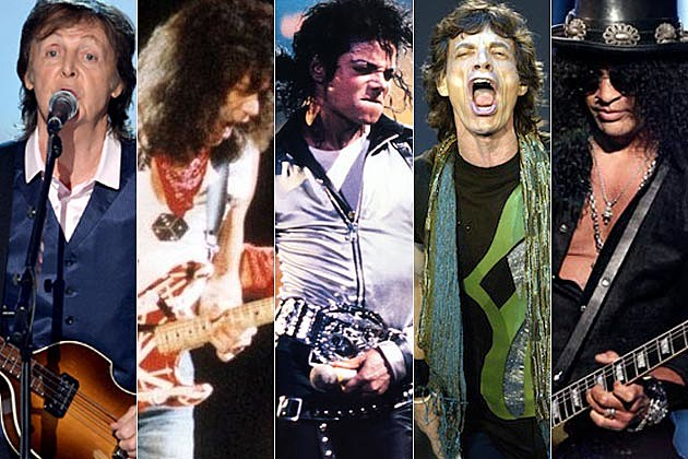 Paul McCartney Eddie Van Halen Michael Jackson Mick Jagger Slash