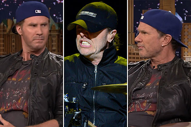 Will Ferrell, Lars Ulrich, and Chad Smith