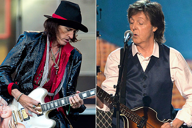 Joe Perry and Paul McCartney