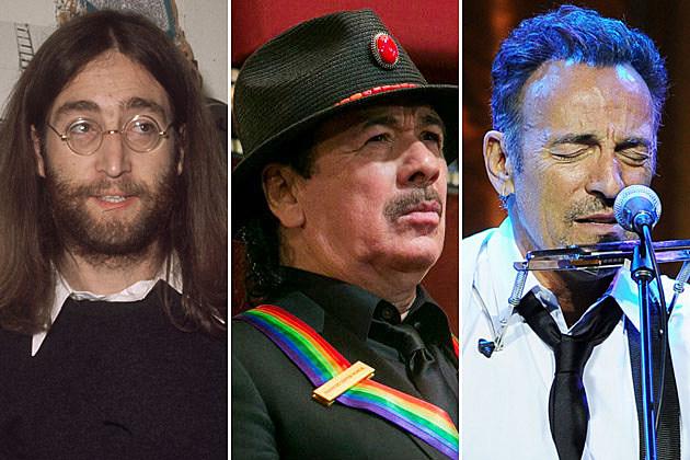 John Lennon Carlos Santana Bruce Springsteen