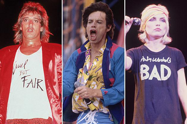 Rod Stewart Mick Jagger Debbie Harry