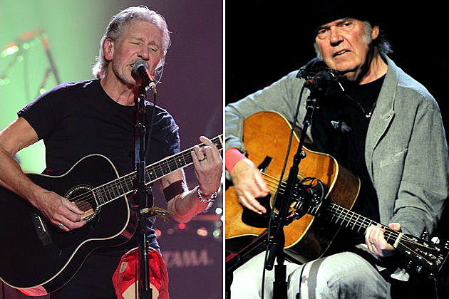 Roger Waters and Neil Young
