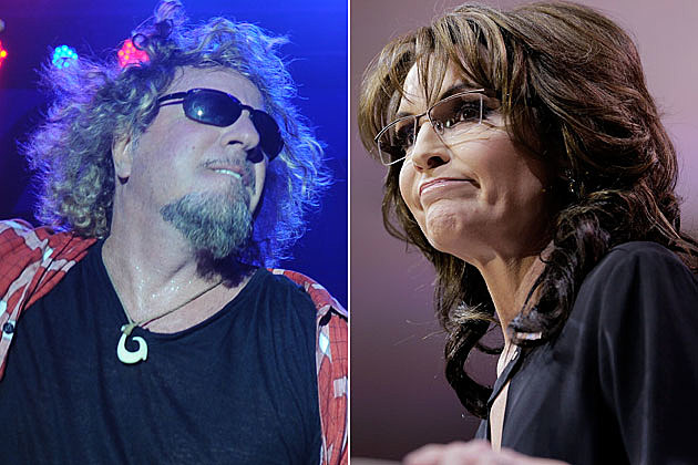 Sammy Hagar and Sarah Palin