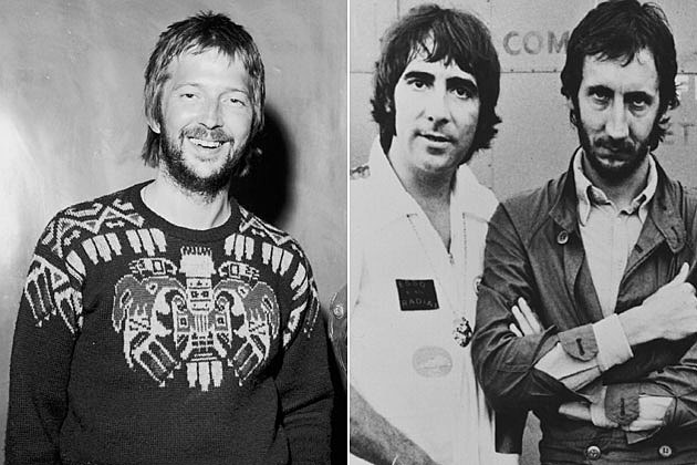 Eric Clapton, Keith Moon, Pete Townshend