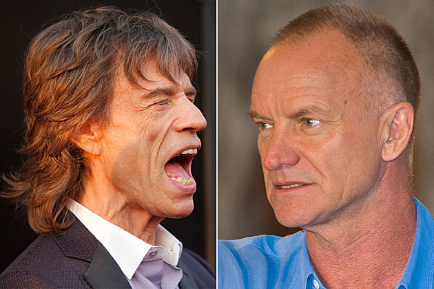 Mick Jagger and Sting