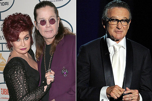 Sharon and Ozzy Osbourne and Robin Williams