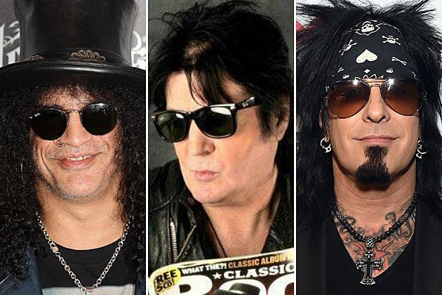 Slash, Pete Way, and Nikki Sixx
