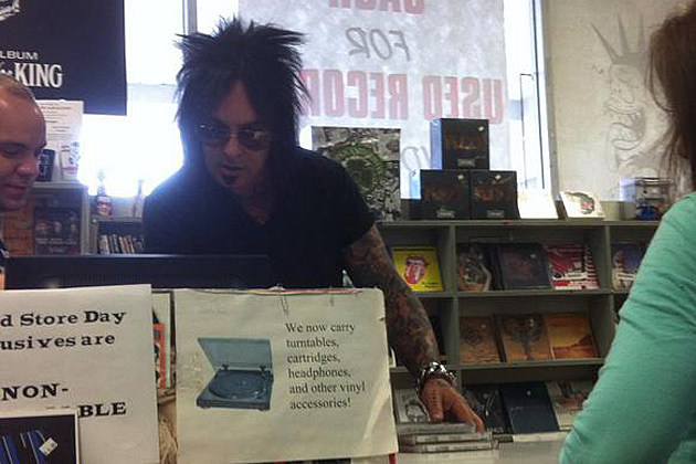 Nikki Sixx Works In Record Store To Promote New Sixx Am