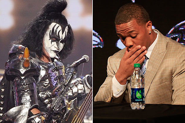 Gene Simmons and Ray Rice