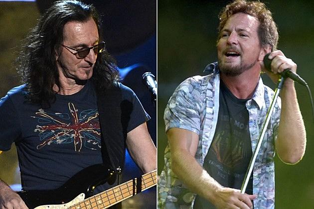 Geddy Lee and Eddie Vedder