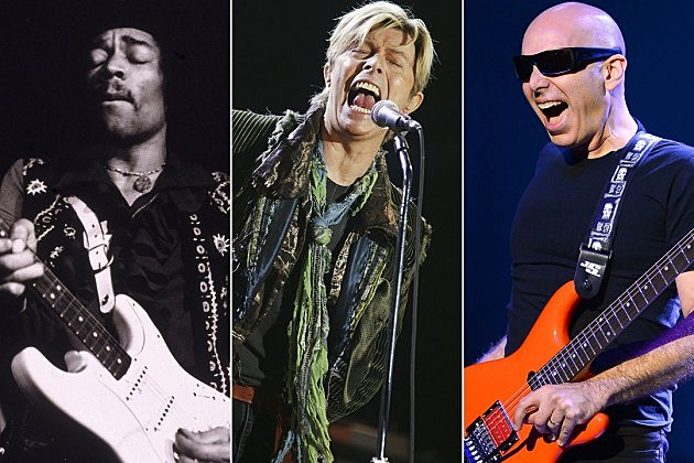 Jimi Hendrix, David Bowie, Joe Satriani