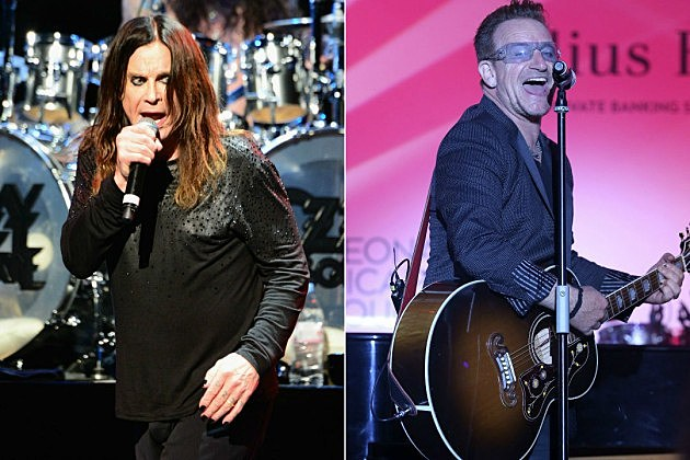 Ozzy Osbourne and Bono