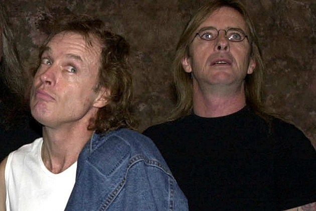 Angus Young and Phil Rudd