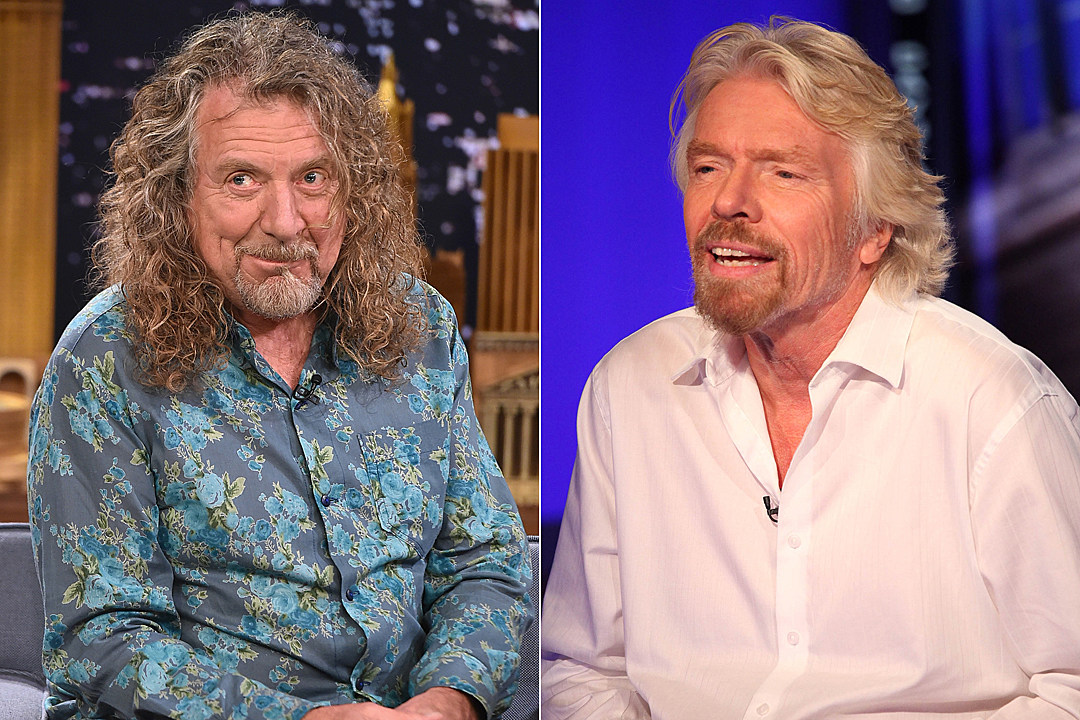 Robert Plant Richard Branson