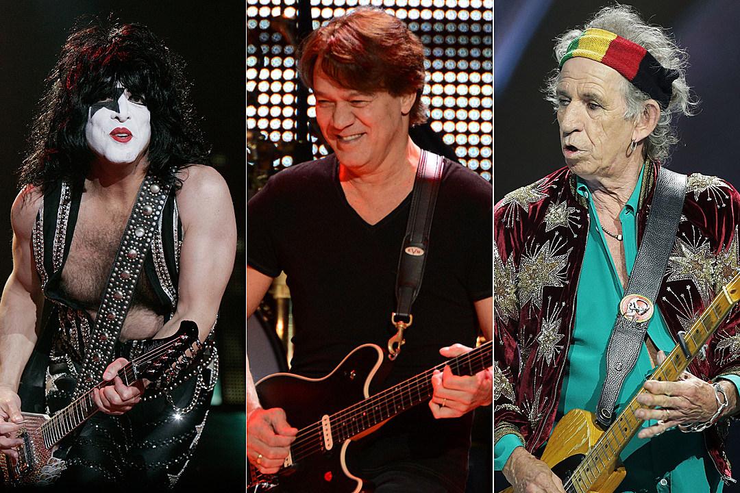 Paul Stanley Eddie Van Halen Keith Richards